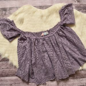 Off the shoulder crochet crop top from Free People